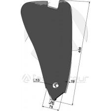 Déflecteur latéral - modèle droit - Delta Flex - Kongskilde - 7204027029