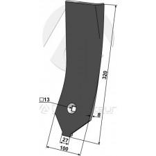 Déflecteur lateral - droit - Lemken Karat - 3374490