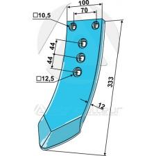 Pointe pour socs à ailette - Rabe - GG-210 6344.33.09