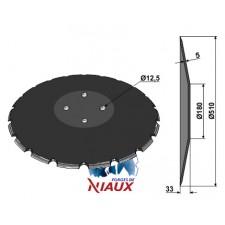 Disque bombé - crénelé - Gregoire Besson - 21212 - NIAUX 200