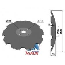 Disque crénelée à fond plat - D510 - AG006453 - NIAUX 200