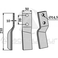 Dent rotative, modèle gauche - Maschio - 24100415