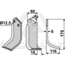 Couteau, modèle droit - Maschio - 40000404