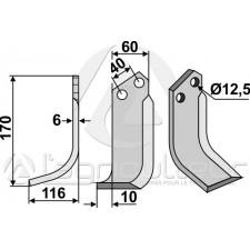 Couteau, modèle gauche - Maschio - 40000405