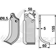 Couteau, modèle droit - Tielburger - KB-001-008