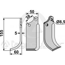 Couteau, modèle gauche - Tielburger - KB-001-007