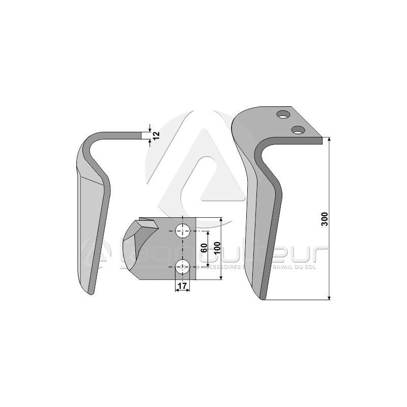 Dent pour herses rotatives, modèle droit - Maschio - 36100210