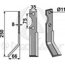 Dent rotative, modèle gauche - Universel - AG014379