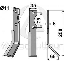 Dent rotative, modèle droit - Universel - AG014380