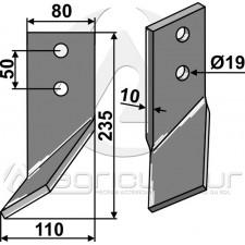 Dent rotative, modèle droit - Universel - AG014386