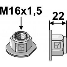 Écrou à embase à freinage interne - Polystop M16x1,5 - 10.9