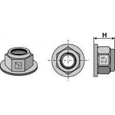 Écrou à embase à freinage interne - Polystop - M20x1,5 - 10.9