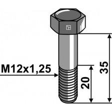 Boulon à tête hexagonale - M12x1,25X35 - 12.9