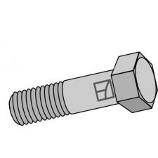 Boulon à tête hexagonale avec filet fin - M12x1,25x50 - 12.9