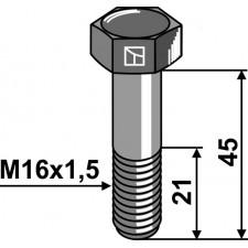 Boulon à tête hexagonale avec filet fin - M16x1,5x45 - 12.9 - Amazone - 0201200