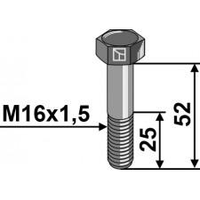 Boulon à tête hexagonale avec filet fin - M16x1,5x52- 12.9 - Grimme / Gruse - B99.04278