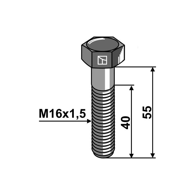 Boulon à tête hexagonale - M16x1,5X55 - 12.9 - Amazone - DD124