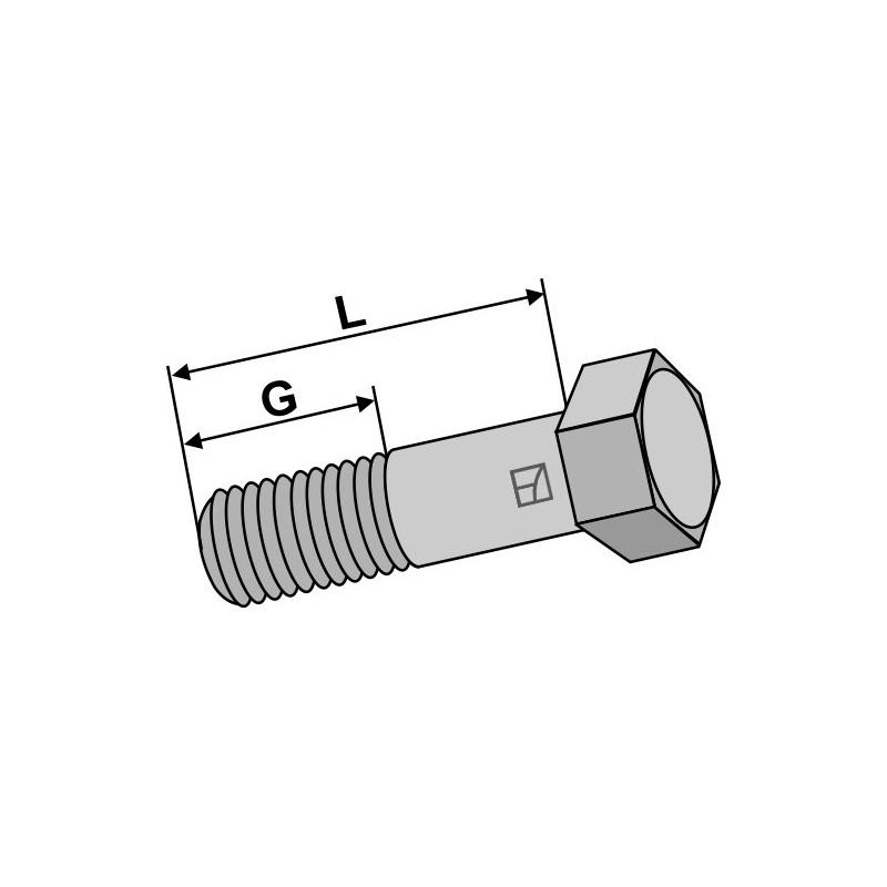 Boulon à tête hexagonale avec filet fin -  M18x1,5x55 - 10.9