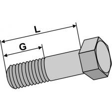 Boulon à tête hexagonale avec filet fin - M20x1,5X70 - 10.9
