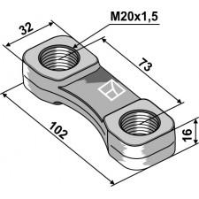 Écrou à panier - M20x1,5 - Lemken - 4598602