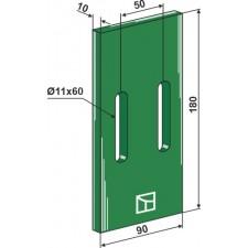 Racloir plastique Greenflex pour rouleaux packer - Lemken - 3492001