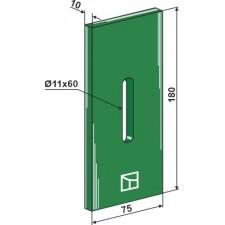 Racloir plastique Greenflex pour rouleaux packer - Kuhn - 525221(alt) 52532120 (neu)