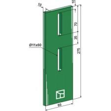 Racloir plastique Greenflex pour rouleaux packer - AG007572