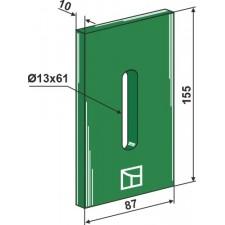 Racloir plastique Greenflex pour rouleaux packer - AG007571
