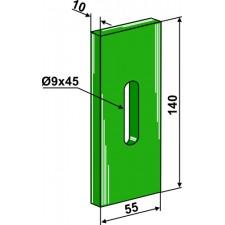 Racloir plastique Greenflex pour rouleaux packer - AG007569