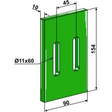 Racloir plastique Greenflex pour rouleaux packer - AG007568