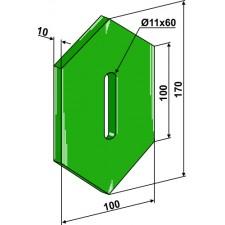Racloir plastique Greenflex pour rouleaux packer - Lely - 1201