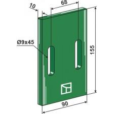 Racloir plastique Greenflex pour rouleaux packer - Lely - 0119