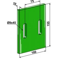 Racloir plastique Greenflex pour rouleaux packer - Lely - 1.1645.2839.0