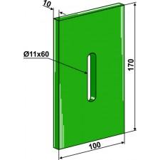 Racloir plastique Greenflex pour rouleaux packer - Lely - 1.1632.2304.0