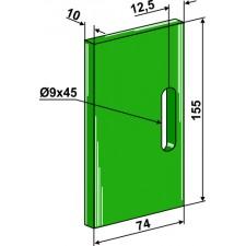 Racloir plastique Greenflex pour rouleaux packer - Lely - 1.1645.2838.0