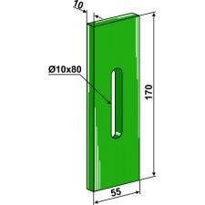 Racloir plastique Greenflex pour rouleaux packer - Lely - 1.1606.3479.0