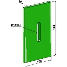 Racloir plastique Greenflex pour rouleaux packer - Lely - 1.1645.2948.0