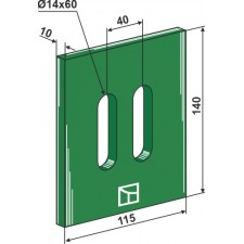 Racloir plastique Greenflex pour rouleaux packer - AG007558