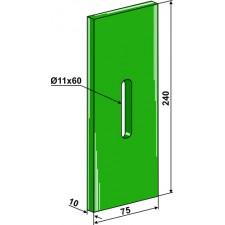 Racloir plastique Greenflex pour rouleaux packer - Landsberg - 435.780