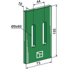Racloir plastique Greenflex pour rouleaux packer - Maschio / Gaspardo - 24066