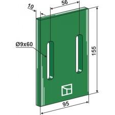 Racloir plastique Greenflex pour rouleaux packer - Maschio / Gaspardo - 26100667 (22036)