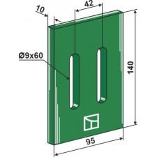 Racloir plastique Greenflex pour rouleaux packer - Maschio / Gaspardo - 27100539  36100499