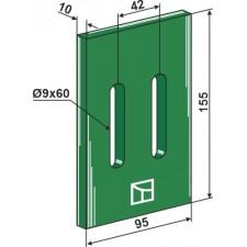 Racloir plastique Greenflex pour rouleaux packer - AG007553