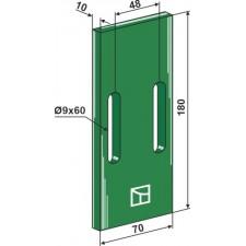 Racloir plastique Greenflex pour rouleaux packer - Niemeyer - 034102