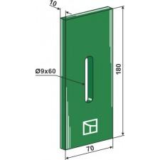 Racloir plastique Greenflex pour rouleaux packer - Niemeyer - 034218