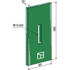 Racloir plastique Greenflex pour rouleaux packer - Niemeyer - 034575