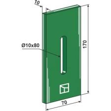 Racloir plastique Greenflex pour rouleaux packer - Rau - 0029743