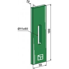 Racloir plastique Greenflex pour rouleaux packer - AG007545