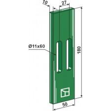 Racloir plastique Greenflex pour rouleaux packer - AG007544
