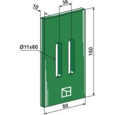 Racloir plastique Greenflex pour rouleaux packer - AG007543